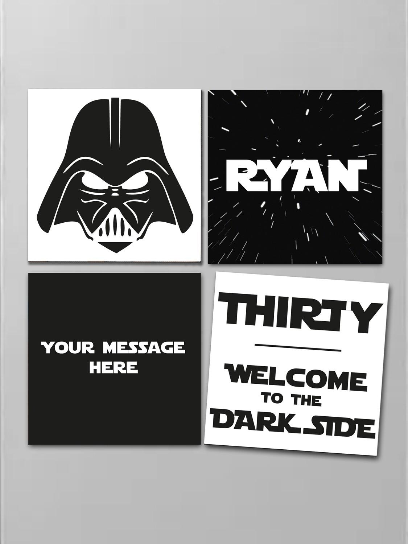Personalised Dark Side Fridge Magnet Set