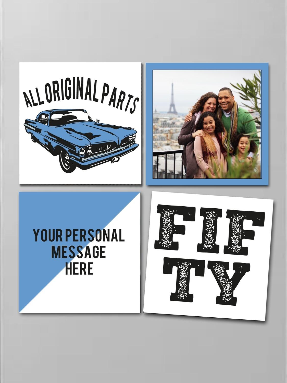 Personalised Original Fridge Magnet Set