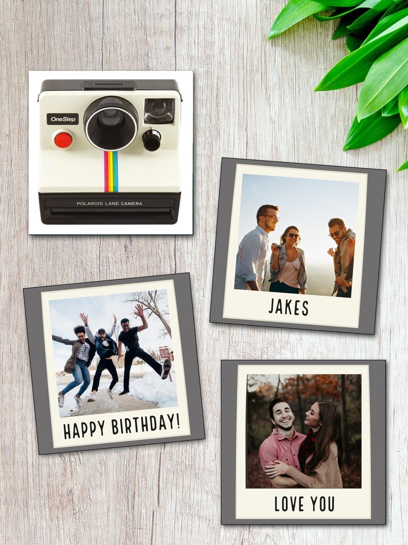 Personalised Polaroid Camera Fridge Magnet Set