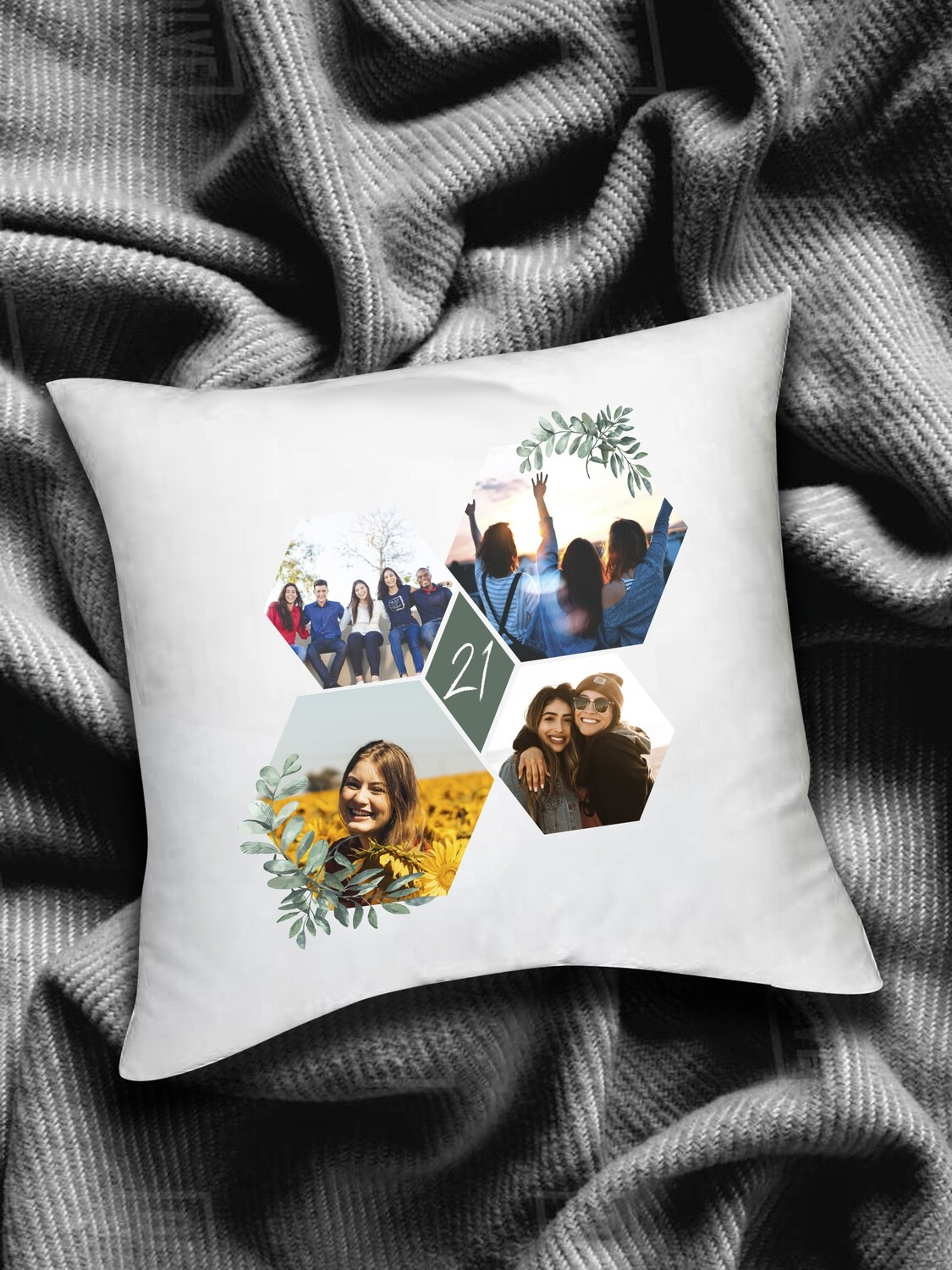 Personalised Photo Collage Scatter Cushion