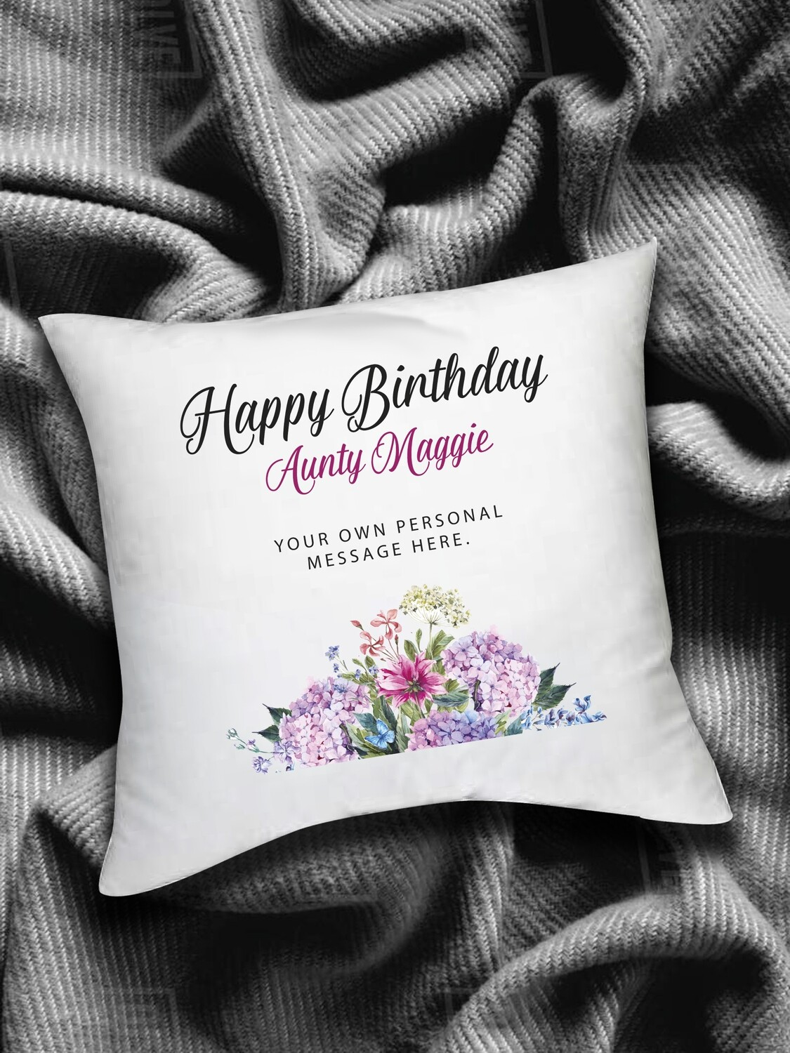 Personalised Floral Scatter Cushion