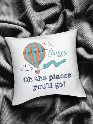 Personalized Hot Air Balloon Scatter Cushion