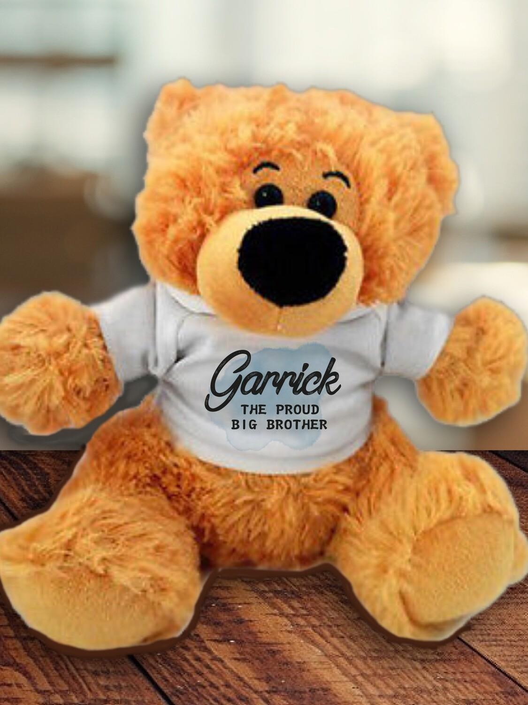 Personalised Blue Teddy