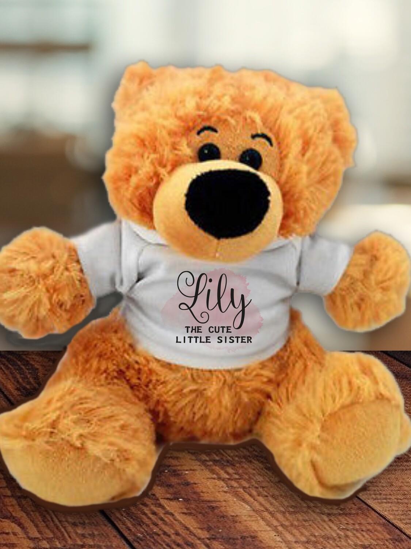 Personalised Pink Teddy
