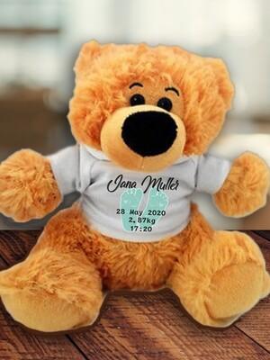 Personalised Baby Feet Teddy