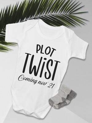Personalised Plot Twist Baby Onesie