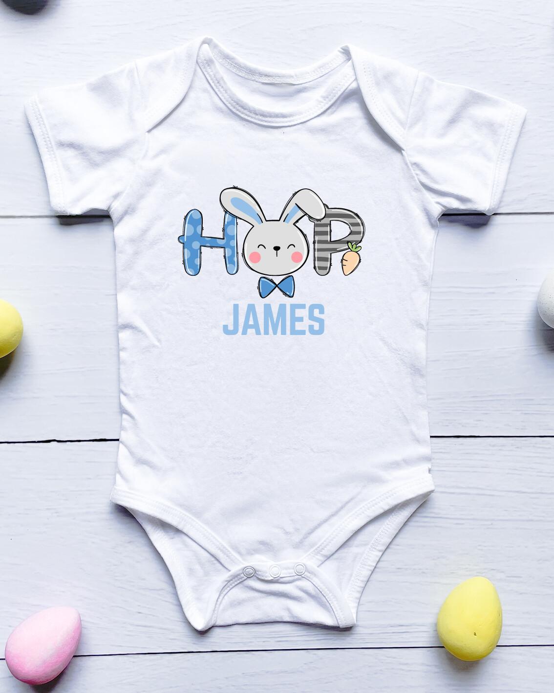 Personalised Hop Baby Onesie