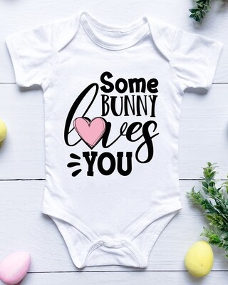 Personalised Some Bunny Baby Onesie