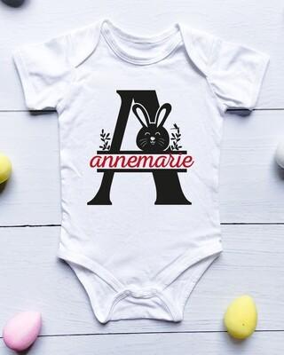 Personalised Monogram Baby Onesie