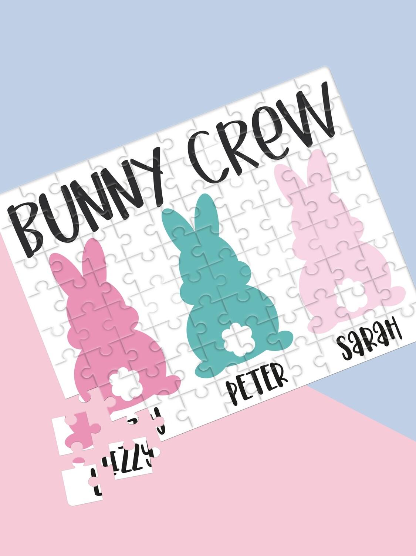 Personalised Bunny Crew Puzzle