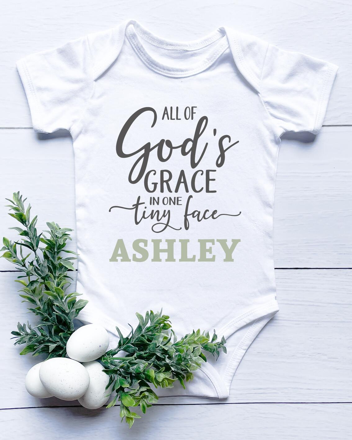 Personalised God's Grace Baby Onesie