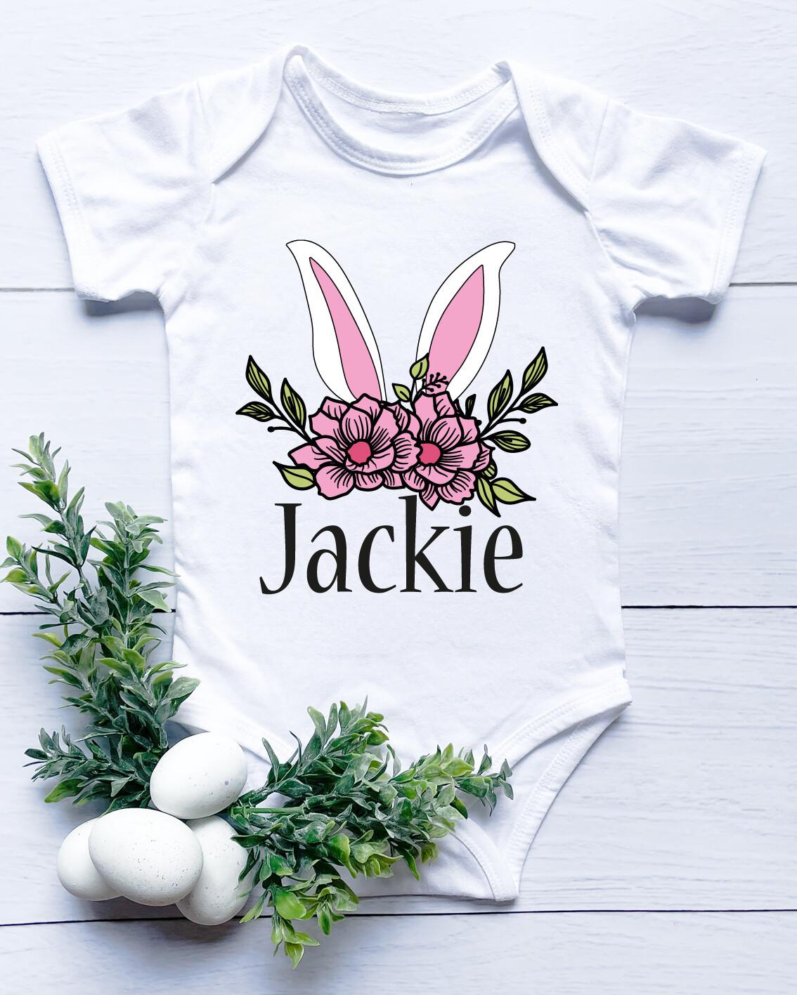 Personalised Bunny Ears Baby Onesie