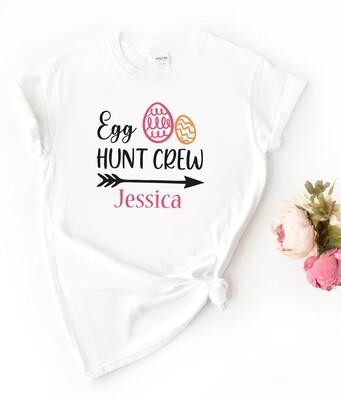 Personalised Egg Hunting Crew Tshirt