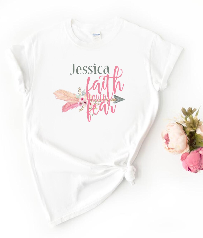 Personalised Floral Faith Tshirt