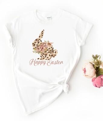 Personalised Leopard Bunny Tshirt