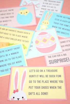 FREE Easter Scavenger Hunt Rhymes - INSTANT DOWNLOAD