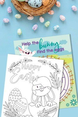 Easter Activity Book PLUS Colouring Book - INSTANT DOWNLOAD