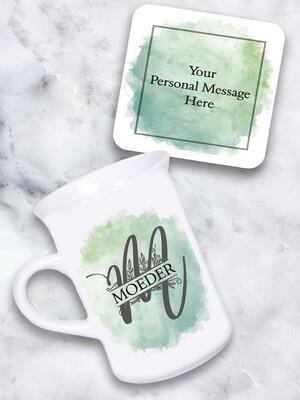 Personalised Monogram Tea Mug & Coaster Set