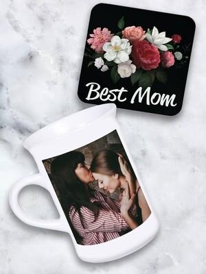 Personalised Photo Tea Mug & Coaster Set