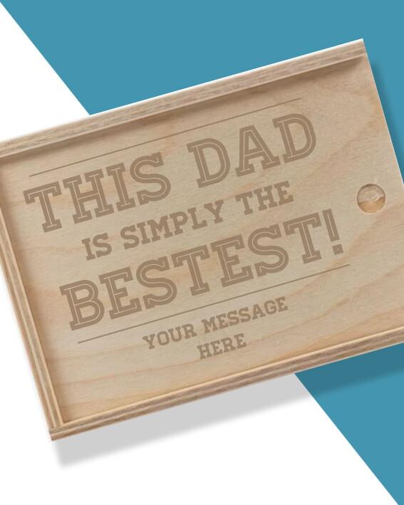 Personalised Bestest Dad Hamper Box