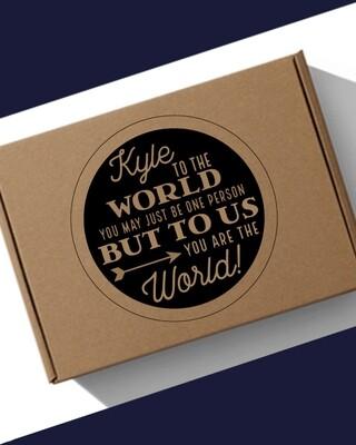 Personalised The World Hamper Box