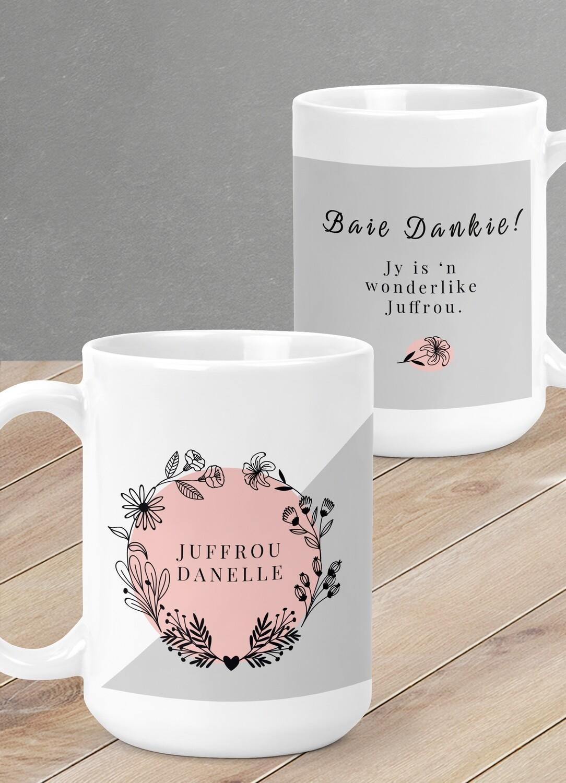 Personalised Teacher Floral Mug