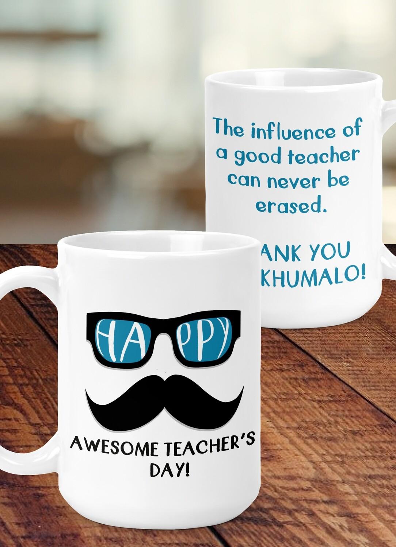 Personalised Hipster Teacher Mug