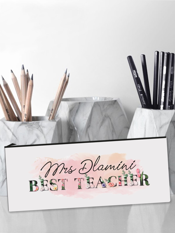 Personalised Teacher Flowers Pencil Case Large