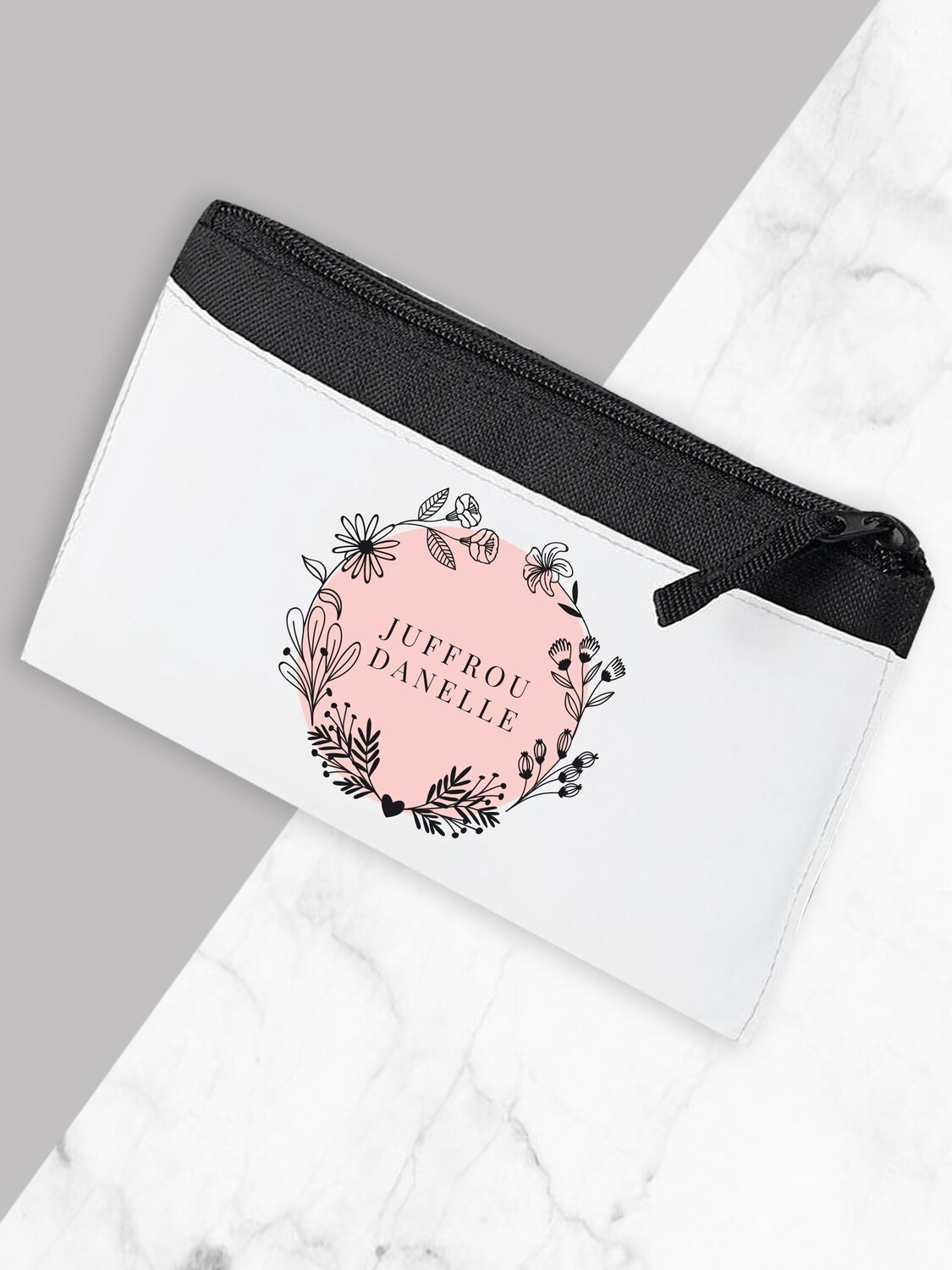 Personalised Floral Teacher Pencil Case Small