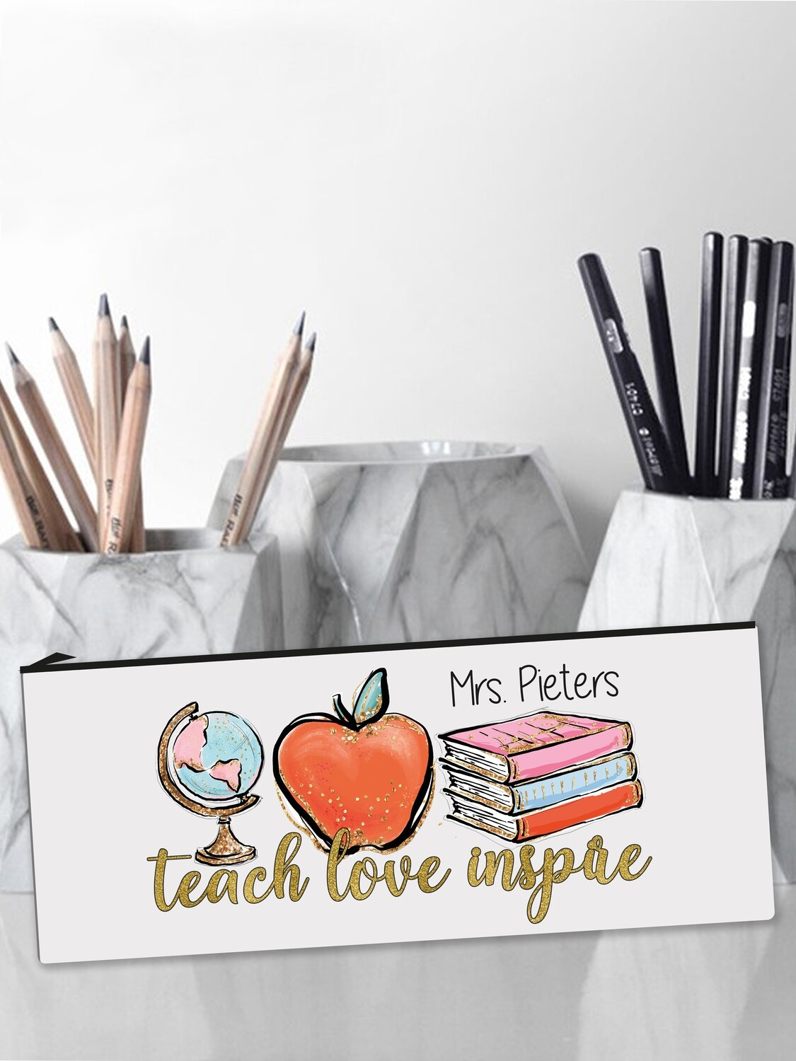 Personalised Teach Pencil Case Large