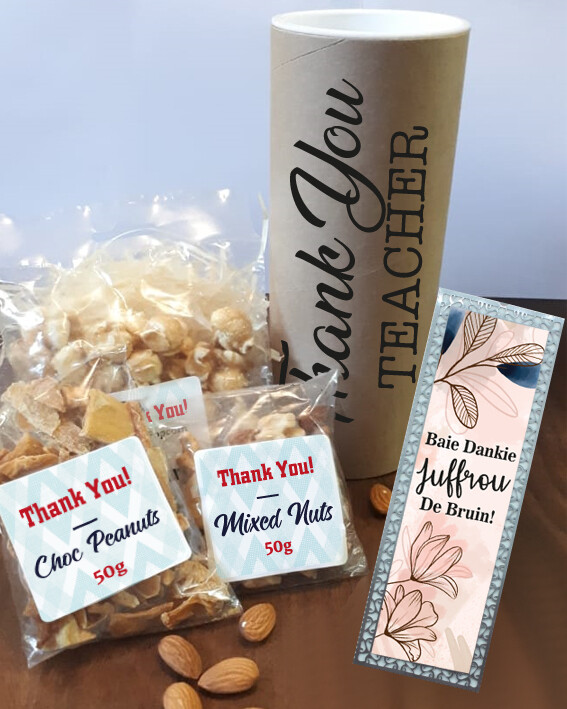 Personalised Thank You Teacher Snack Pencil Tube