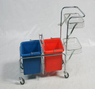 Trolley - Plastic Bucket 2 x 2OL Shelf