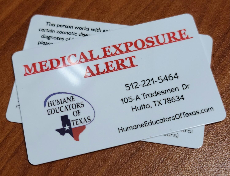 Medical Exposure Wallet Card