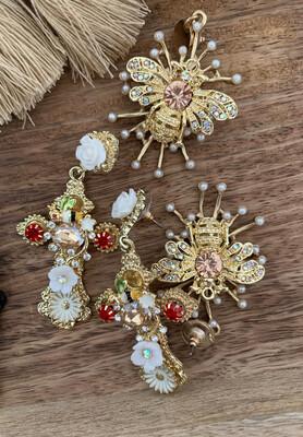 Hippy Happy Rococo Earrings