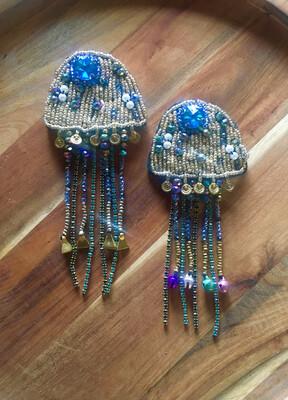 "Handmade ""Jellyfish"" Brooch"