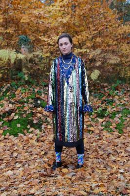 """Shine Like The Stars"" Sequin Wrap Dress/Coat"