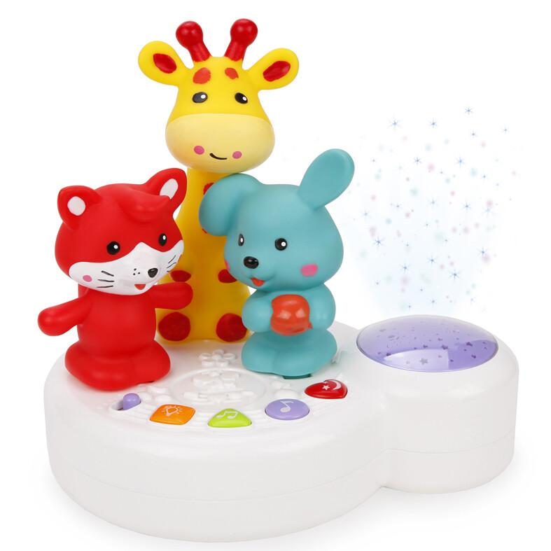 Музыкальная игрушка-ночник Жирафик и друзья с проектором Жирафики 939599