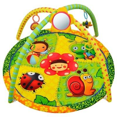 """Развивающий коврик """"Летняя полянка"""", 5 развивающих игрушек, с зеркальцем Жирафики 939314"""