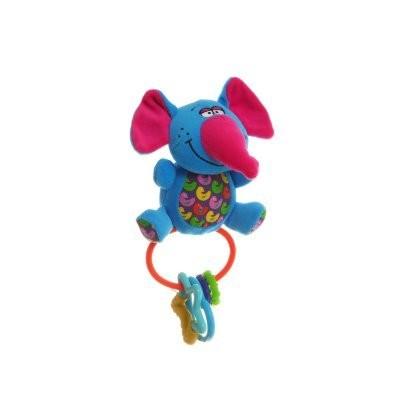 Мягкая игрушка-погремушка Слон пищалка BABY YOU BB1299