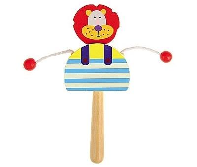 Деревянная игрушка Колотушка с бусинками. Зебра Рыжий кот ИД-1360