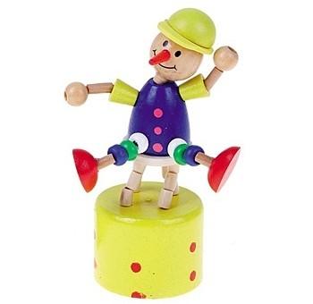Деревянная игрушка Дергунчик Циркач Рыжий кот ИД-1304