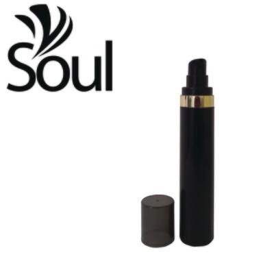 50ml - Round Plastic Black Bottle Goldline Airless Pump