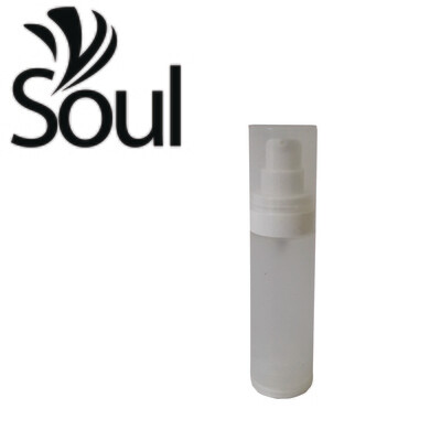 30ml - Round Plastic Frosted Bottle with Airless Pump