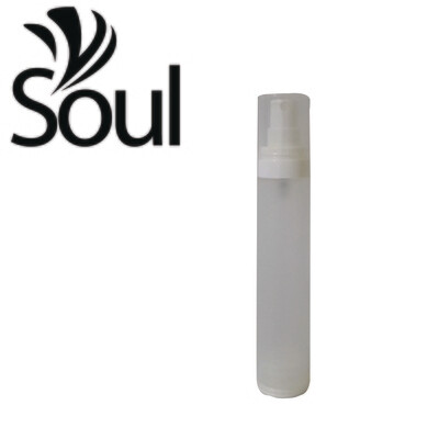 50ml - Round Plastic Frosted Bottle with Airless Spray