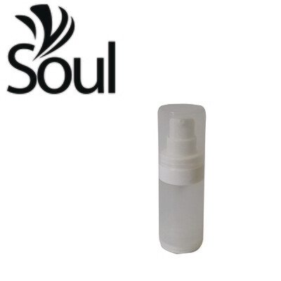 15ml - Round Plastic Frosted Bottle with Airless Pump