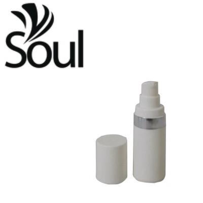 15ml - Round Plastic White Bottle Silverline Airless Pump