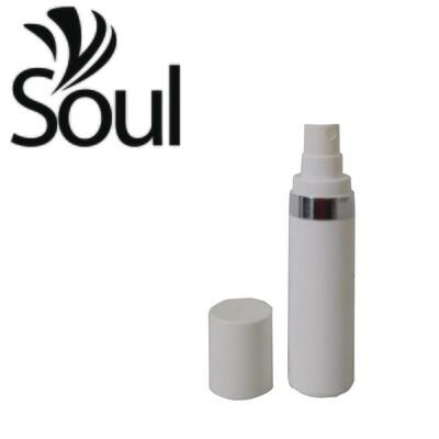 30ml - Round Plastic White Bottle Silverline Airless Spray