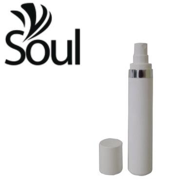 50ml - Round Plastic White Bottle Silverline Airless Spray