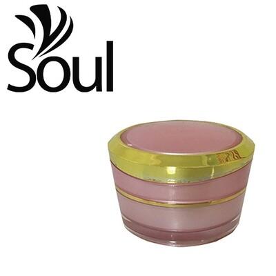 10g - Pyramid Round Arcylic Cream Jar Pink