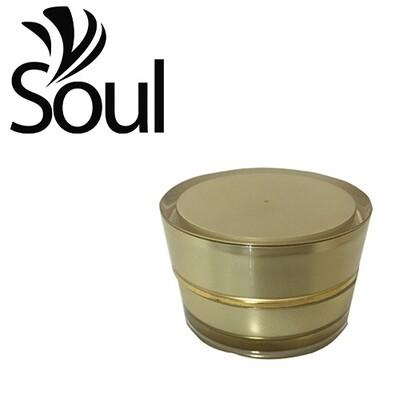 10g - Cone Arcylic Pearl Gold Cream Jar